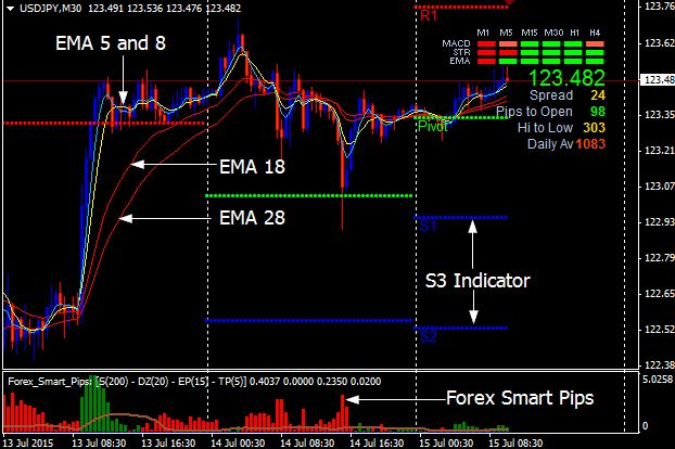 pips counter indicator